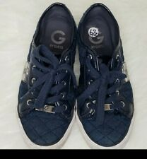 G by GUESS Women Low Top Blue Jeans Quilted Sneakers Size 6.5