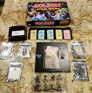 Monopoly Star Wars Saga Edition Parker Brothers 2005 100% Complete Board game.