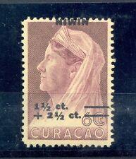 CURACAO # 182 VARIETEIT = SHIFTED OVERPRINT =  **  MNH  VF  @14
