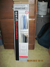 Double Hang Closet Rod...Double Your Closet Space..Brand New....