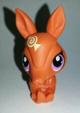 Littlest Pet Shop Orange Candy Swirl Armadillo Purple Eyes #3324 Preowned LPS