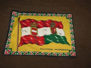 "VINTAGE 12"" X 8 3/4"" AUSTRIA HUNGARY FLAG CLOTH"
