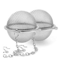 cool 2PCS Pratique Boule a The Tea Epices Infuser Filtr wholesale price Q1A3