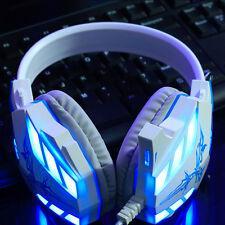 LED Backlight Gaming Headset illuminated Wired Headphone USB 3.5mm Stereo Sound