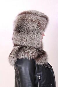 fox fur hood hat pelzhaube fuchs hut cappello pelliccia volpe fourrure 帽子 Шляпу