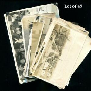 Antq Lot of 49 Real Photos Altoona WI Leinenkugel Collection c.1915