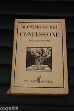 Massimo Gorki - Confessione - Prima edizione Monanni 1930 - romanzo russo