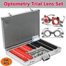 266Pcs Industrial Optical Trial Lens Optometry Metal Rim PU Case + Trial Frame
