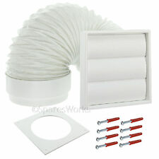 """Venting Kit For Miele Tumble Dryer External Vent Wall Outlet 4"""" 100mm White"""