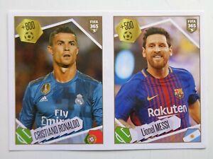 Panini FIFA 365 2018 No.501  Cristiano RONALDO and Lionel MESSI MINT sticker