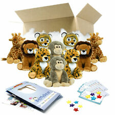 "16"" Safari Teddy Bear Making Party Pack - 10 kits - Build Birthday Bear"