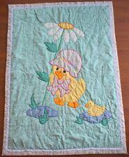 """Baby Quilt Handmade Style Baby Ducks 44"""" x 58"""" SWEET"""
