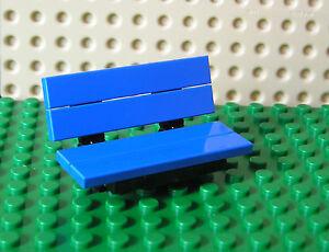 Custom LEGO Park Bench Garden Seat Black Frame Choose from 10 Seat Colours