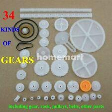 34 kinds of Plastic gears rack pulley belt Worm gear Single-double-gear model OG