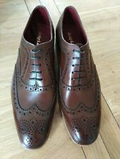 Loake Fearnley Leather Brogues-Dark Brown; UK size 12