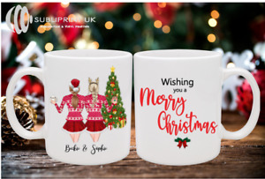 Two Person Best Friends/Sister Christmas Personalised Mug