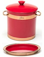 Fiesta Red 3 quart Double-Walled Ice Bucket&Tray with Copper Accents new