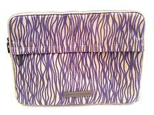TARGUS Laptop Soft Zip Computer Bag Purple White Print Bag Accessory Pouch