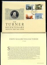 GB 1975 TURNER FDC SILVER MEDALLIC COVER