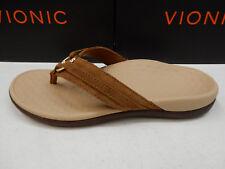 Vionic Womens Tide Aloe Toe Post Sandal Toffee Size 7