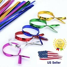 """6"""" Twist Ties 6-Inch Genuine Uline Pre-Cut-Metallic for many uses-Pick Color-Qty"""