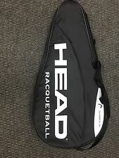 Head Racquetball Full Head Case FREE POST UK.BLACK AND WHITE POWER OF YOU.