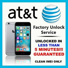 FOR ATT APPLE IPHONE 6 | 6S | SE 7 AT&T SEMI PREMIUM FACTORY UNLOCK CODE SERVICE