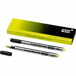 Montblanc Document Marker Highlighter Refill Yellow 2 Pack 105168