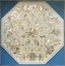 "12"" side Marble Table Top  Precious stones Inlay handmade Work Home Decor"