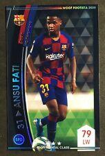 2020 Panini WCCF Footista F20 Ansu Fati Barcelona refractor rookie card