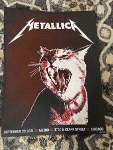Metallica Poster Chicago September 20th 2021 Metro Surprise Show 166/300
