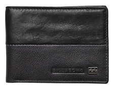 "BRAND NEW IN BOX BILLABONG ""EXCHANGE"" MENS BLACK LEATHER BI-FOLD WALLET BNWT TAG"