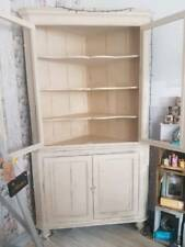 Large Shabby Chic Corner Unit with Shelves and Cupboard painted in Annie Sloan