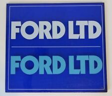 "Ford LTD Plastic Transparent Blue Sign 18""x16"" Square Shape Crown Vic Police"