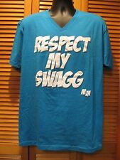 Screen Printed T Shirt, Respect My Swag, M & M Clothing Co, Size XL, Blue