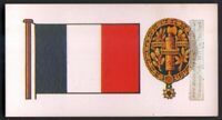 Flag And Standard Banner For France c50 Y/O Trade Ad Card