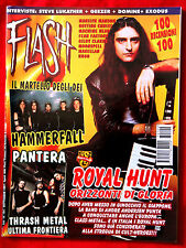 FLASH ITALIAN MAGAZINE # 104 anno 1997 PANTERA HAMMERFALL ROYAL HUNT