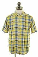 CARHARTT Mens Shirt Short Sleeve Medium Multi Check Cotton  CO08