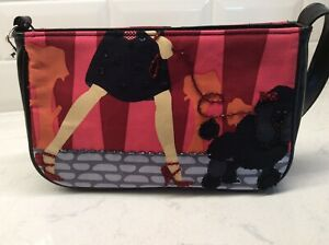 Small Evening Purse Sequin Lady Walking Black Poodle
