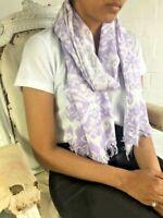 BNWT ladies womens viscose ART DECOR patterned stylish scarf wrap pashmina lilac