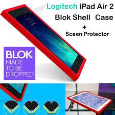 New Logitech  iPad Air 2 BLOK SHELL Case Drop Protect  VIOLET w Screen Protector