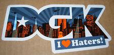 """DGK Logo Skate Sticker NEW YORK SKYLINE 2.5 X 5"""" skateboards helmets decal"""