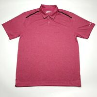 Nike Golf Dri-Fit Red Heather Short Sleeve Casual Polo Shirt Men's Size L Large
