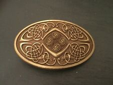 CELTIC KNOT OVAL New BELT BUCKLE Scottish Irish Bronze Colour Metal