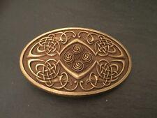 Ovale multiple celtique noeud en métal boucle de ceinture gaélique écossais