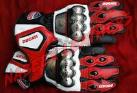Ducati Motorbike Racing Leather Biker Gloves-Guantes de Moto-Motorradhandschuhe