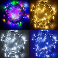 33ft 100 LED Waterproof Fairy String Lights Outdoor Garden Party Path Decor Lamp