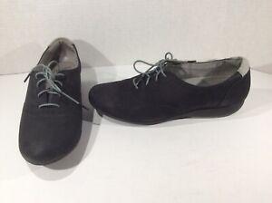 DANSKO Womens Kimi Black Suede Oxfords Lace Up Shoes Sz 40 = 9.5 - 10 DK2-92