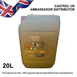 20L Castrol EDGE Titanium 5w-40 5W40 Fully Synthetic Engine Oil