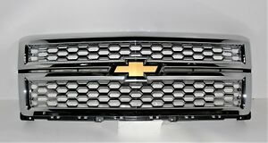 2014 2015 Chevrolet Silverado 1500 Grille CHROME NEW OEM LTZ